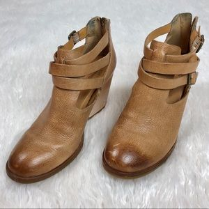 KORK EASE Natural Leather Booties